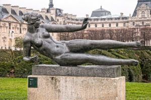 Air is a lead or bronze sculpture, by Aristide Maillol. He modeled Dina Vierny in plaster in 1938, and casts were made after his death. It is an edition of six.