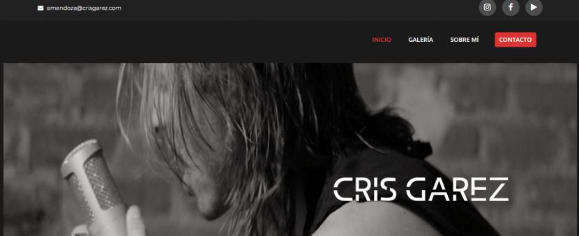pagina web de artista